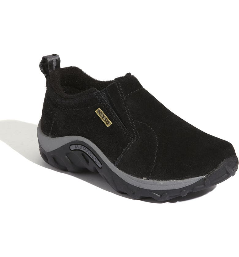 MERRELL 'Jungle Moc - Frosty' Waterproof Slip-On, Main, color, DARK BLACK