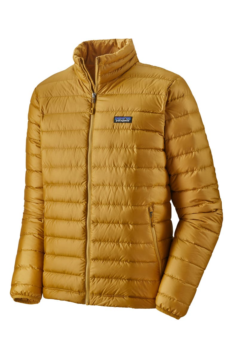 PATAGONIA Water Repellent Down Jacket, Main, color, BUCKWHEAT GOLD