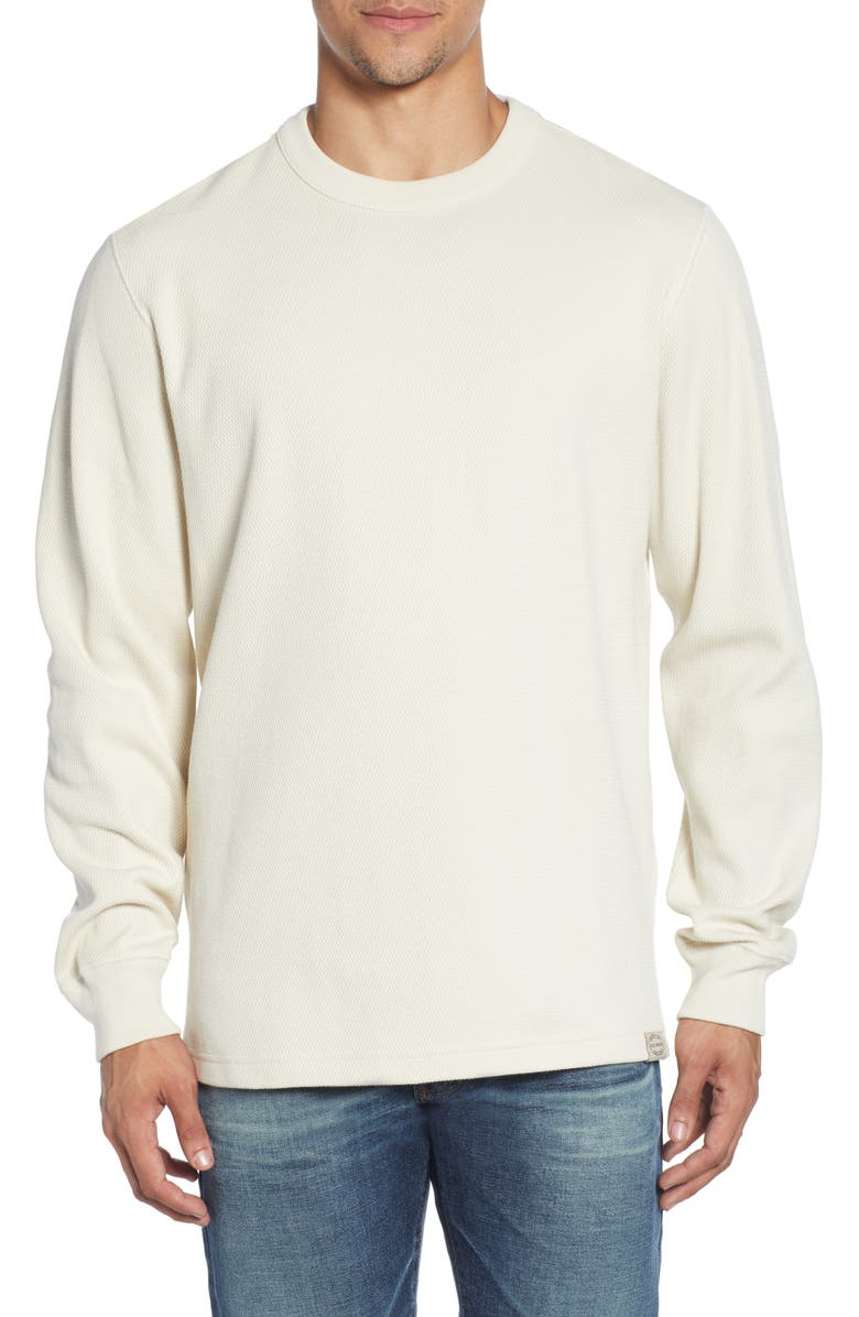 FILSON Waffle Knit Thermal Crewneck Shirt, Main, color, SAND