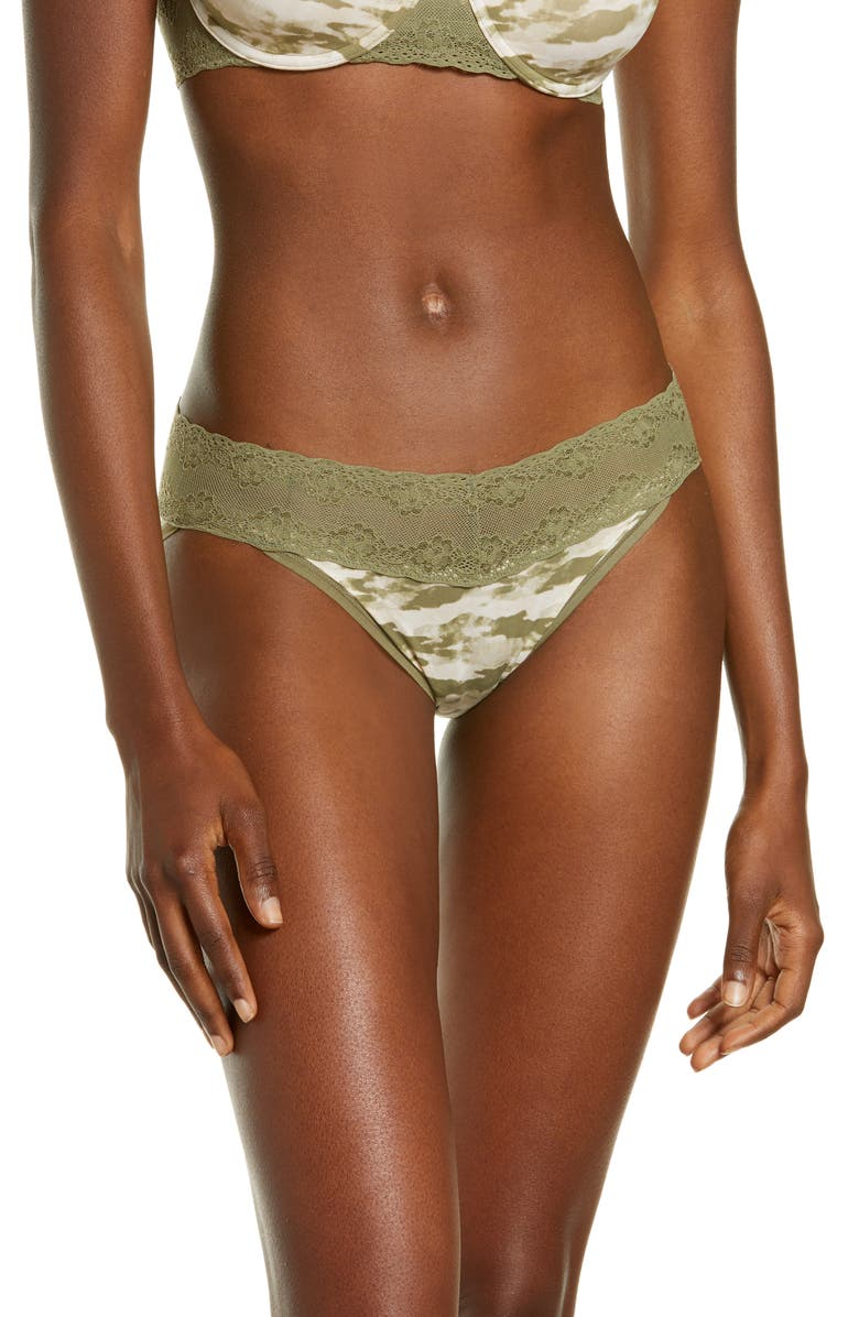 NATORI Bliss Perfection Bikini, Main, color, SAGE CAMO PRINT