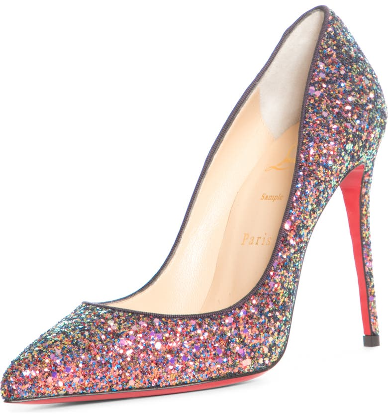 CHRISTIAN LOUBOUTIN Pigalle Follies Glitter Pointed Toe Pump, Main, color, MULTI