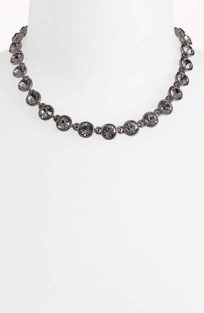 GIVENCHY Crystal Station Collar Necklace, Main, color, 001