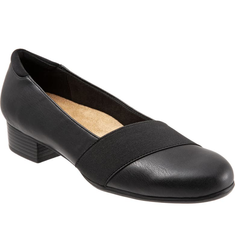 TROTTERS Melinda Loafer, Main, color, BLACK FAUX LEATHER