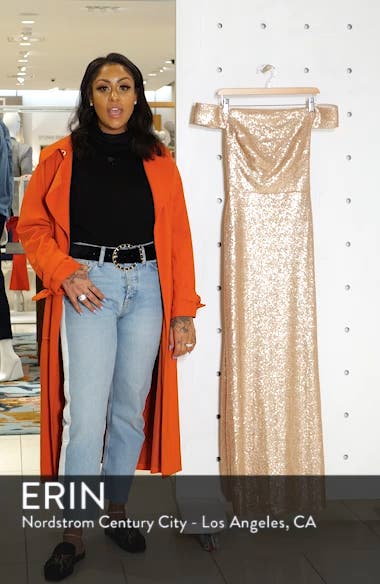 Sequin Off the Shoulder Gown, sales video thumbnail