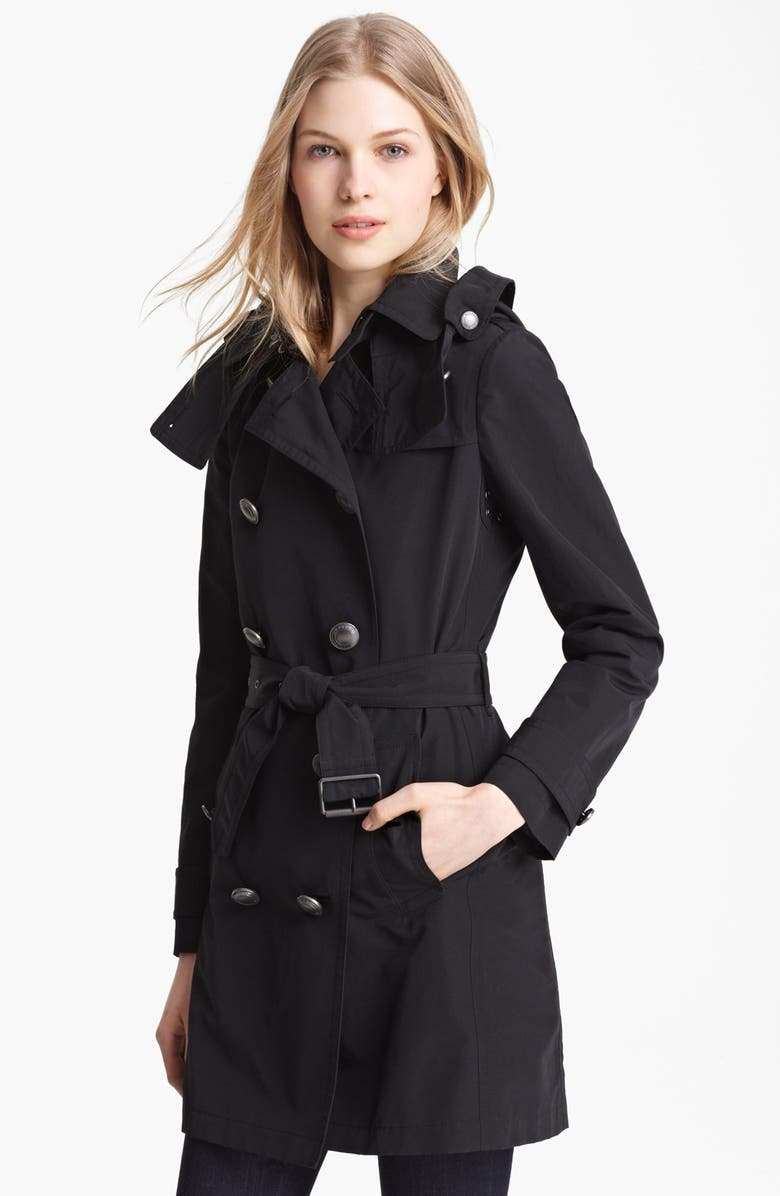 BURBERRY BRIT 'Balmoral' Trench Coat, Main, color, 001