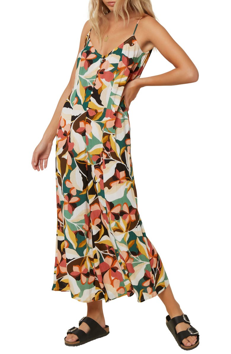 O'NEILL Candice Floral Print Wide Leg Jumpsuit, Main, color, 101