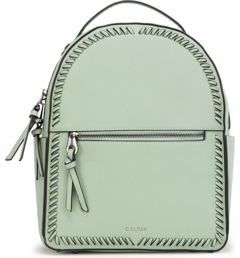 CALPAK Kaya Faux Leather Round Backpack, Main, color, MINT