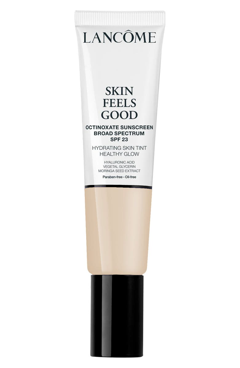 LANCÔME Skin Feels Good Hydrating Skin Tint Healthy Glow Foundation SPF 23, Main, color, 009N MILKY PEACH