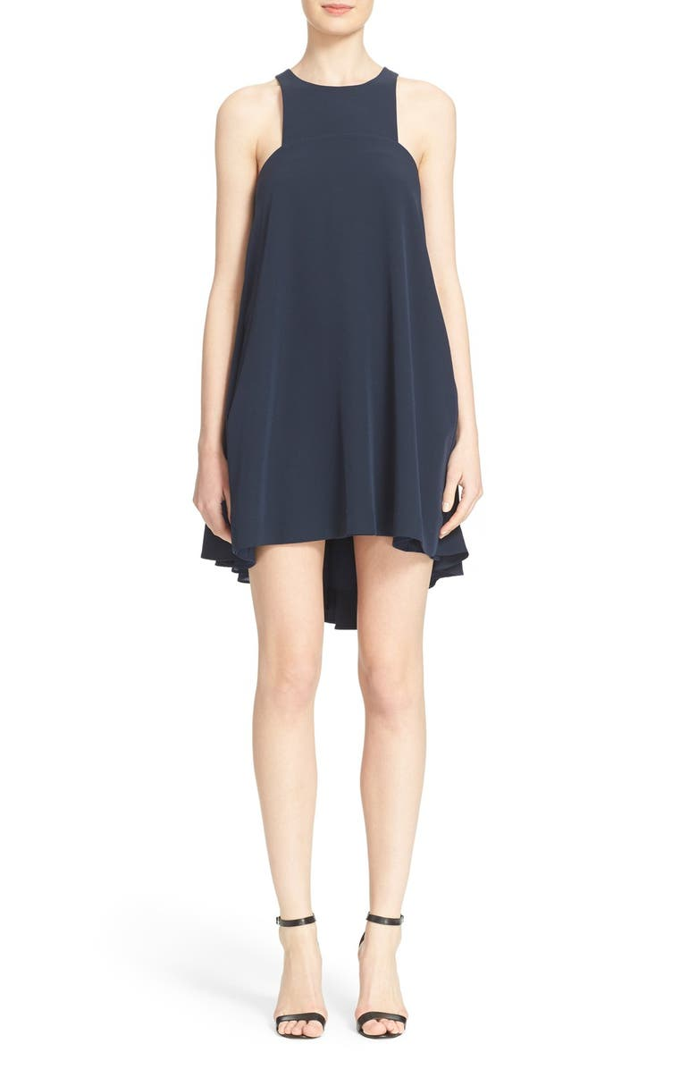 MILLY Sleeveless Trapeze Dress, Main, color, 410