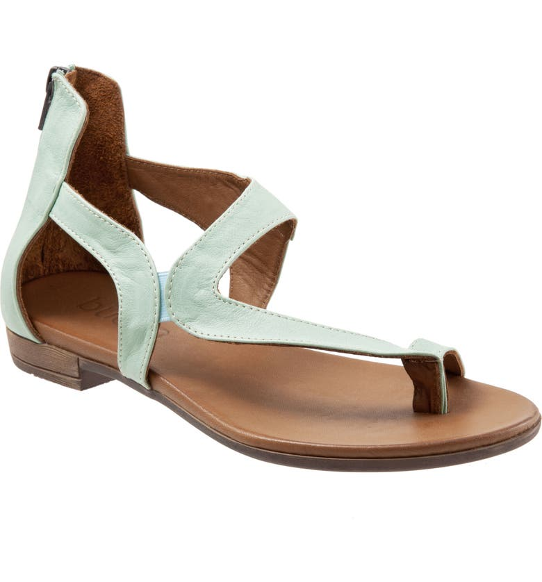 BUENO Tia Sandal, Main, color, PALE GREEN LEATHER