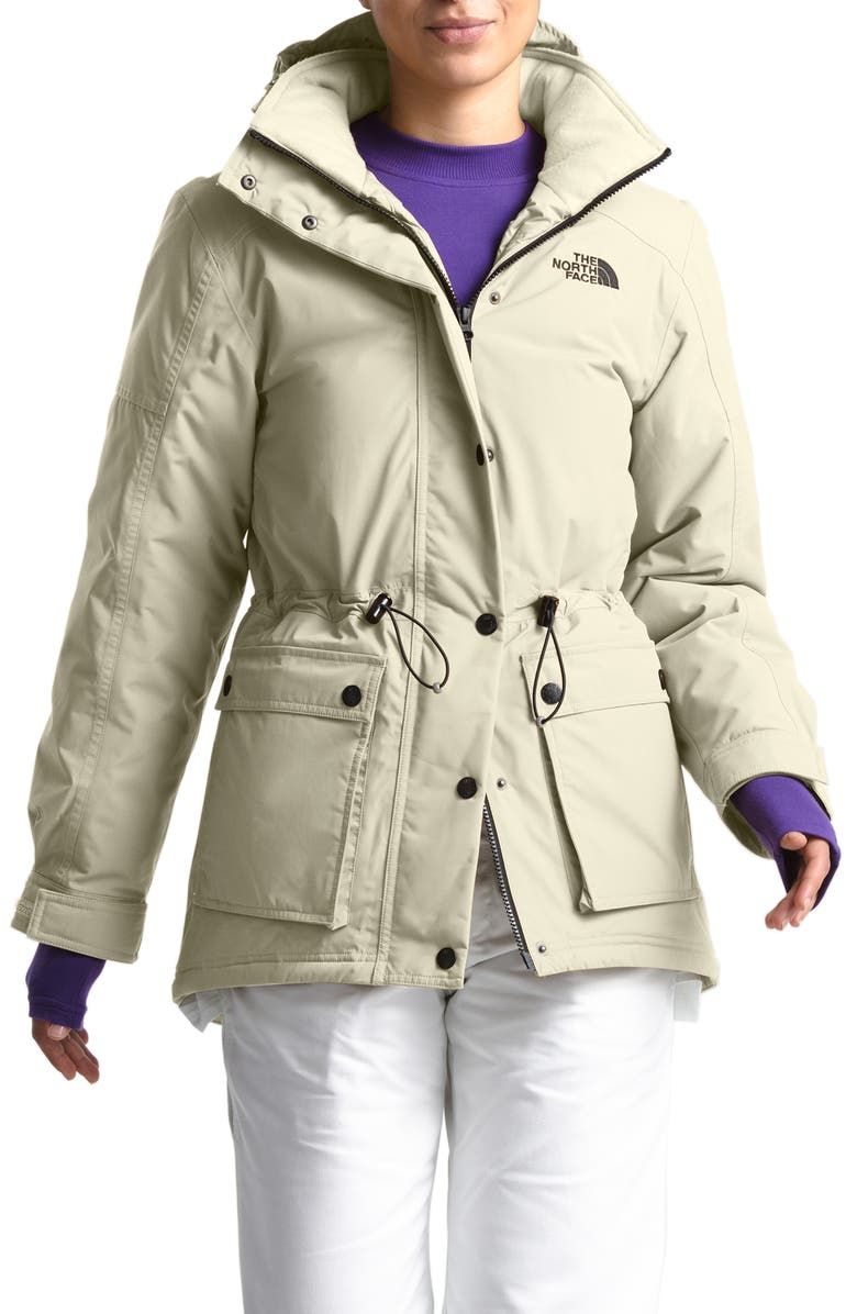 THE NORTH FACE Reign On 550 Fill Power Down Hooded Parka, Main, color, VINTAGE WHITE