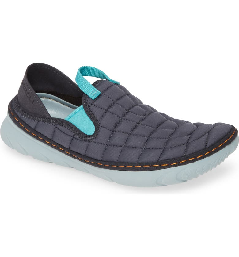 MERRELL Hut Quilted Moc Sneaker, Main, color, EBONY FABRIC