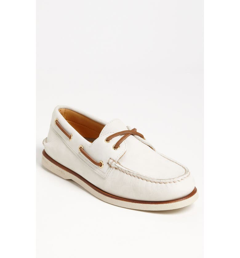 SPERRY 'Authentic Original - Gold Cup' Boat Shoe, Main, color, IVORY