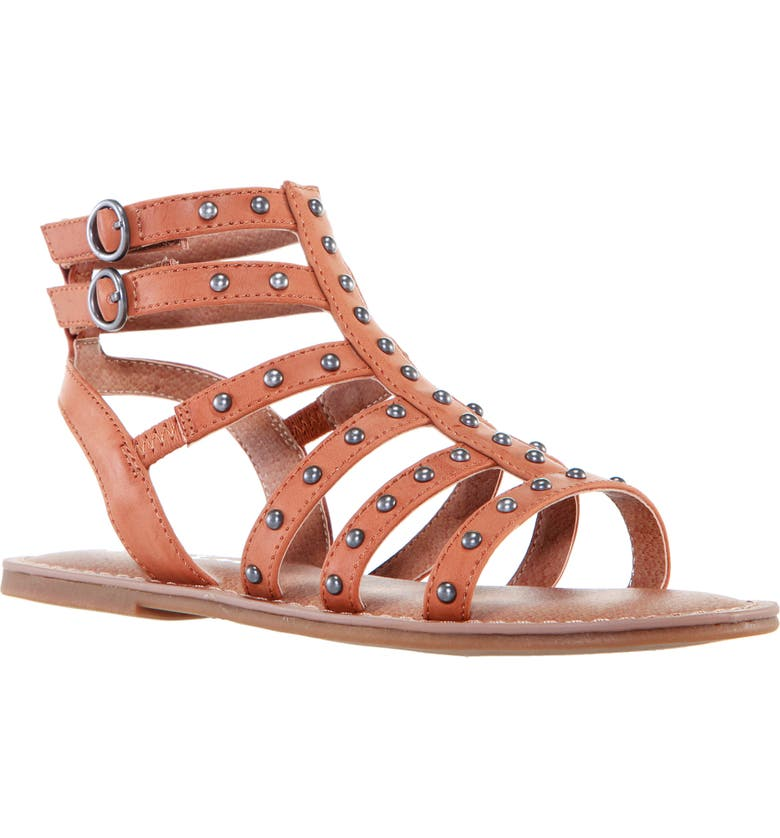 NINA Edie Gladiator Sandal, Main, color, TAN SMOOTH