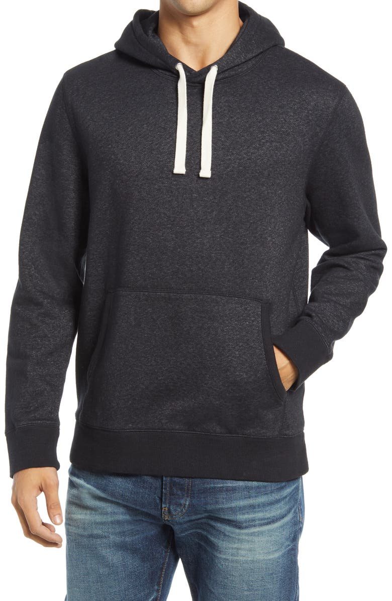 1901 Marled Cotton Blend Pullover Hoodie, Main, color, 001