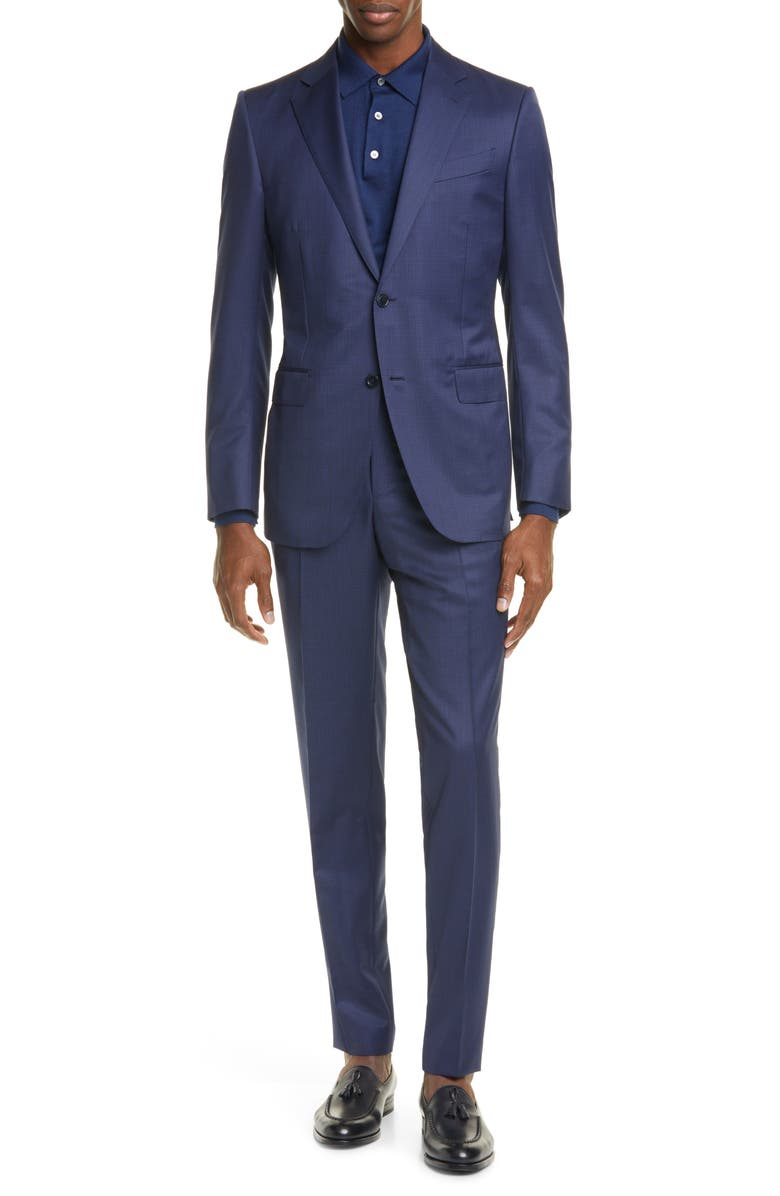 ERMENEGILDO ZEGNA Milano Classic Fit Check Wool Suit, Main, color, 416