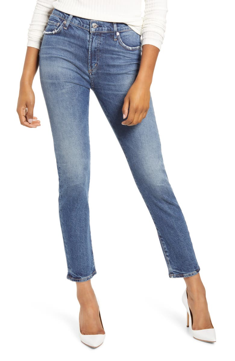CITIZENS OF HUMANITY Harlow High Waist Ankle Slim Cut Jeans, Main, color, 422