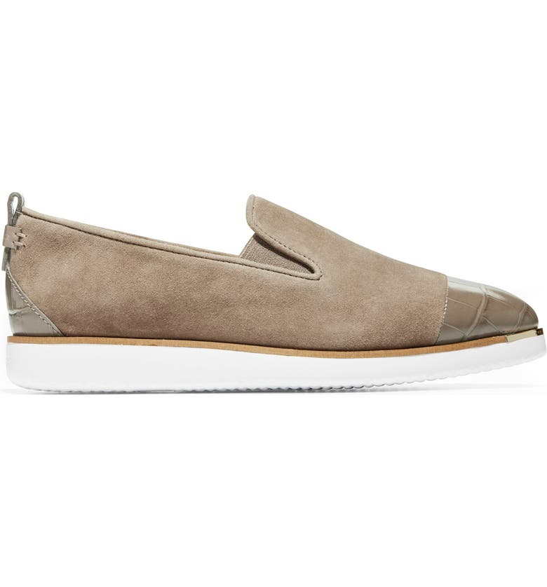 COLE HAAN Grand Ambition Slip-On Sneaker, Main, color, WALNUT ECO FLORA SUEDE