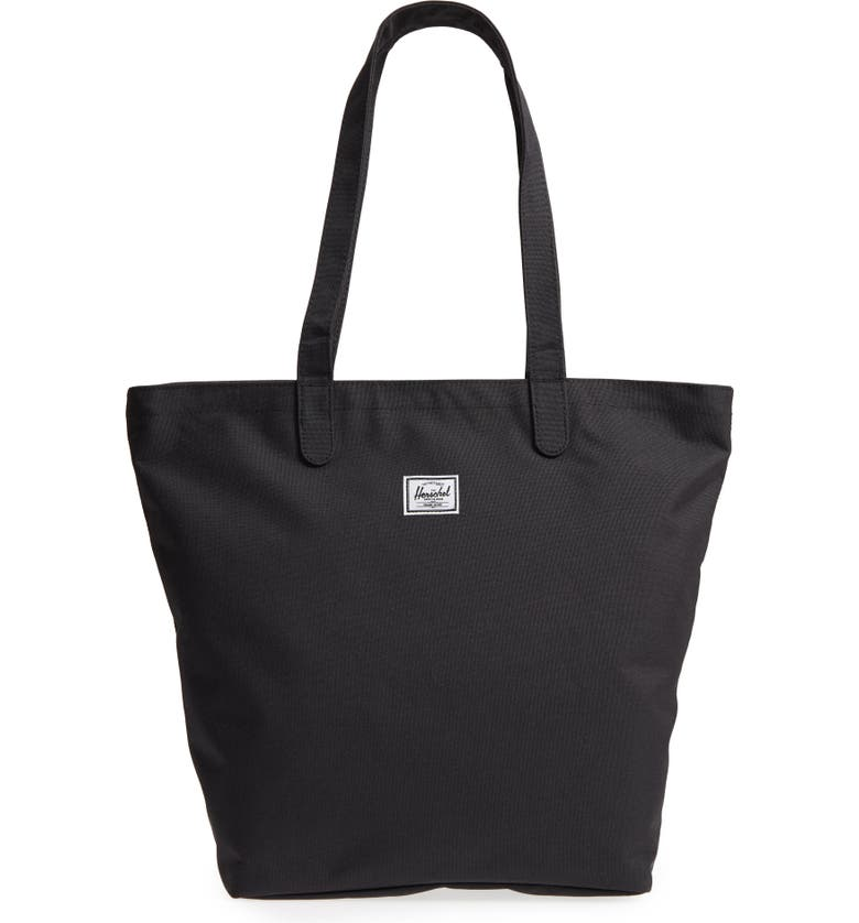 HERSCHEL SUPPLY CO. Mica Canvas Tote, Main, color, BLACK