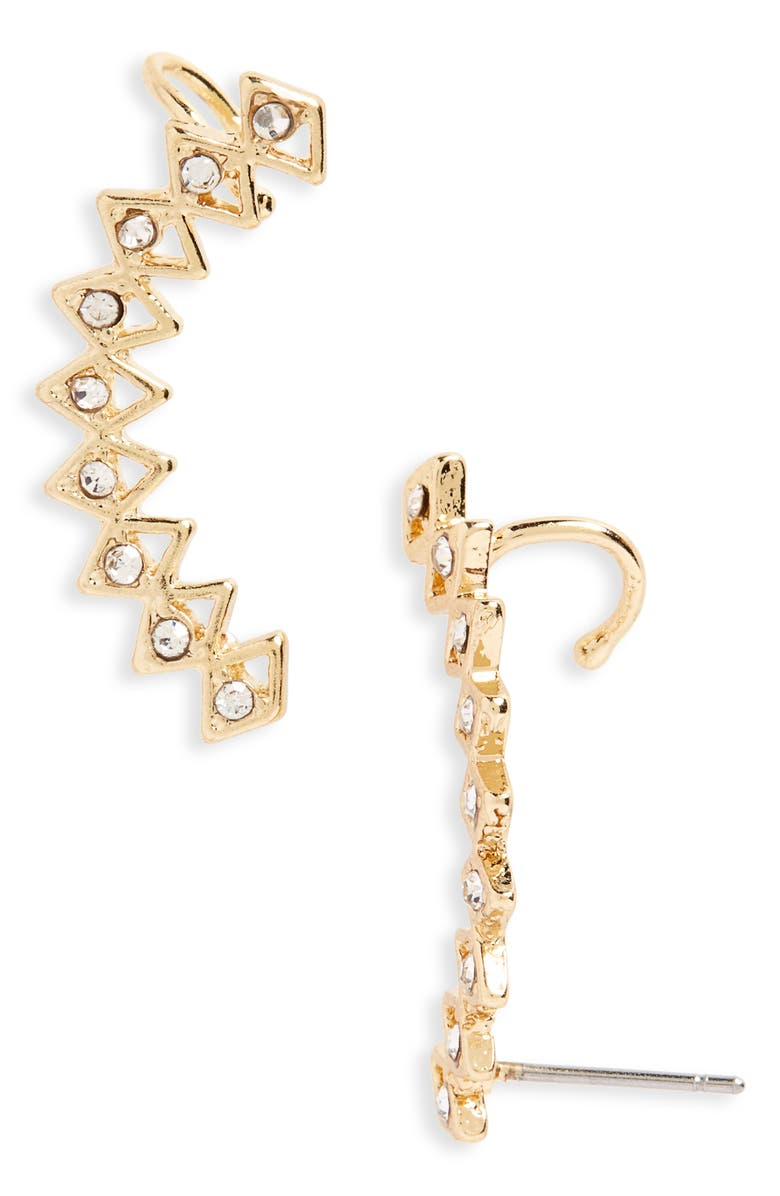 BP. Triangle Ear Crawlers, Main, color, GOLD/ CRYSTAL