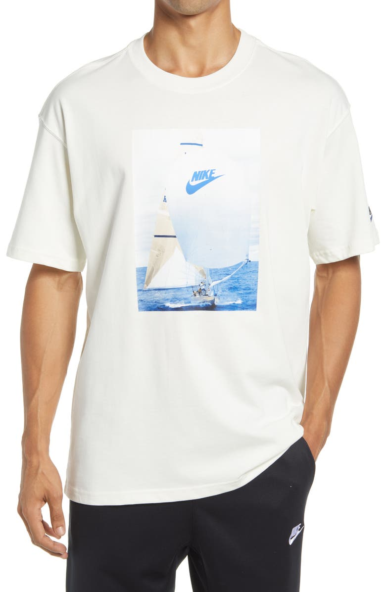 NIKE Sportswear Men's Re-Issue Graphic Tee, Main, color, SAIL