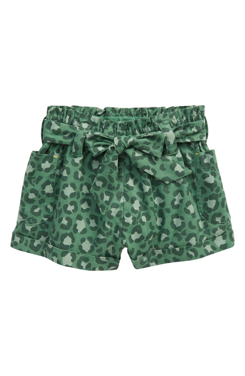 MINI BODEN Kids' Utility Shorts, Main, color, ROSEMARY GREEN LEOPARD