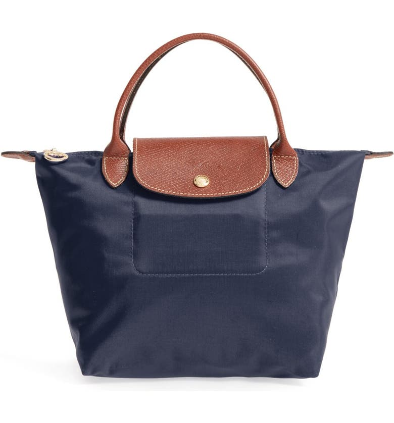 LONGCHAMP Small Le Pliage Top Handle Tote, Main, color, NEW NAVY