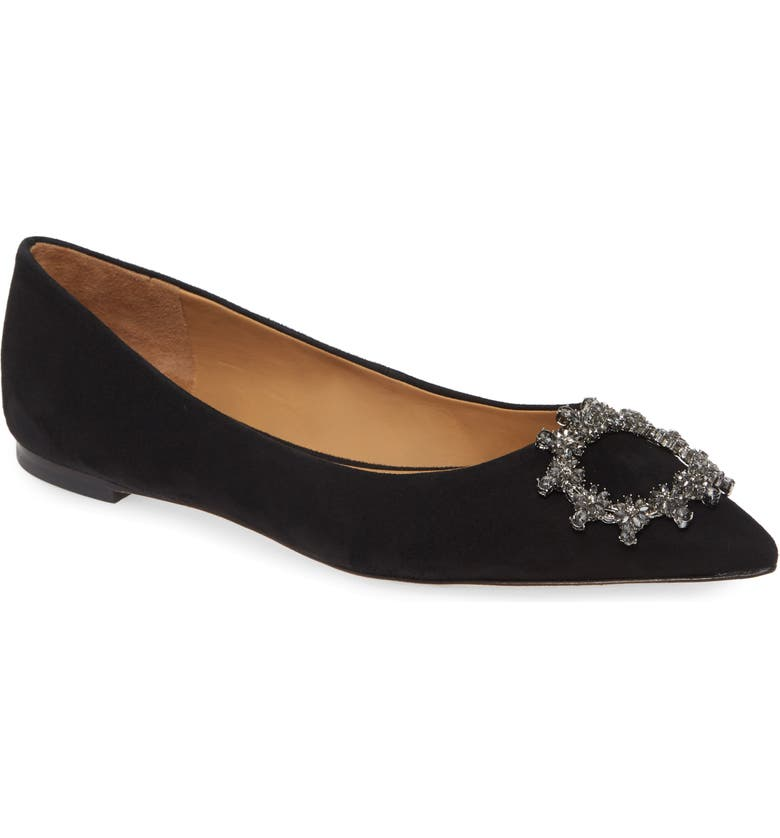 TORY BURCH Crystal Buckle Flat, Main, color, 006