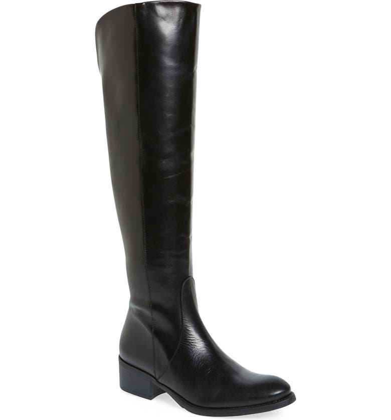 TONI PONS 'Tallin' Over-The-Knee Riding Boot, Main, color, BLACK LEATHER