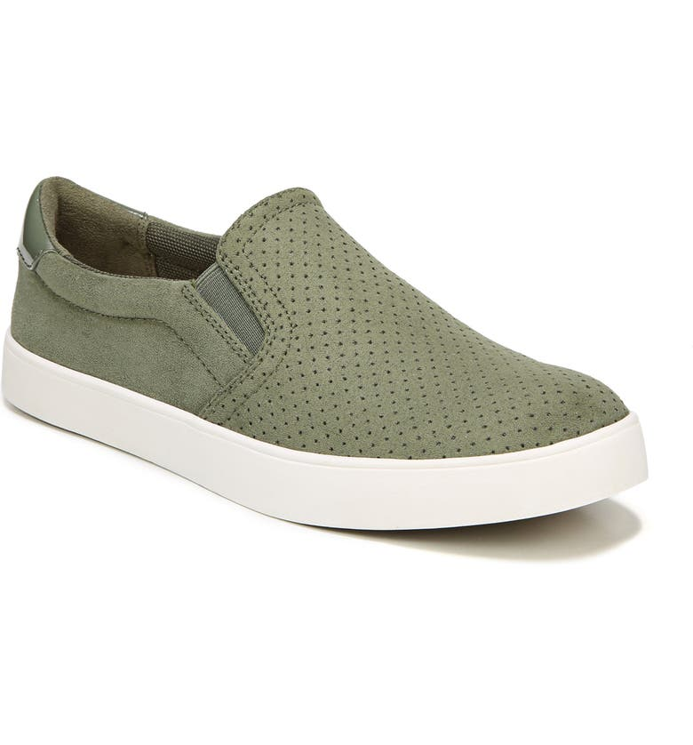 DR. SCHOLL'S Madison Slip-On Sneaker, Main, color, OLIVE PERFORATED FABRIC