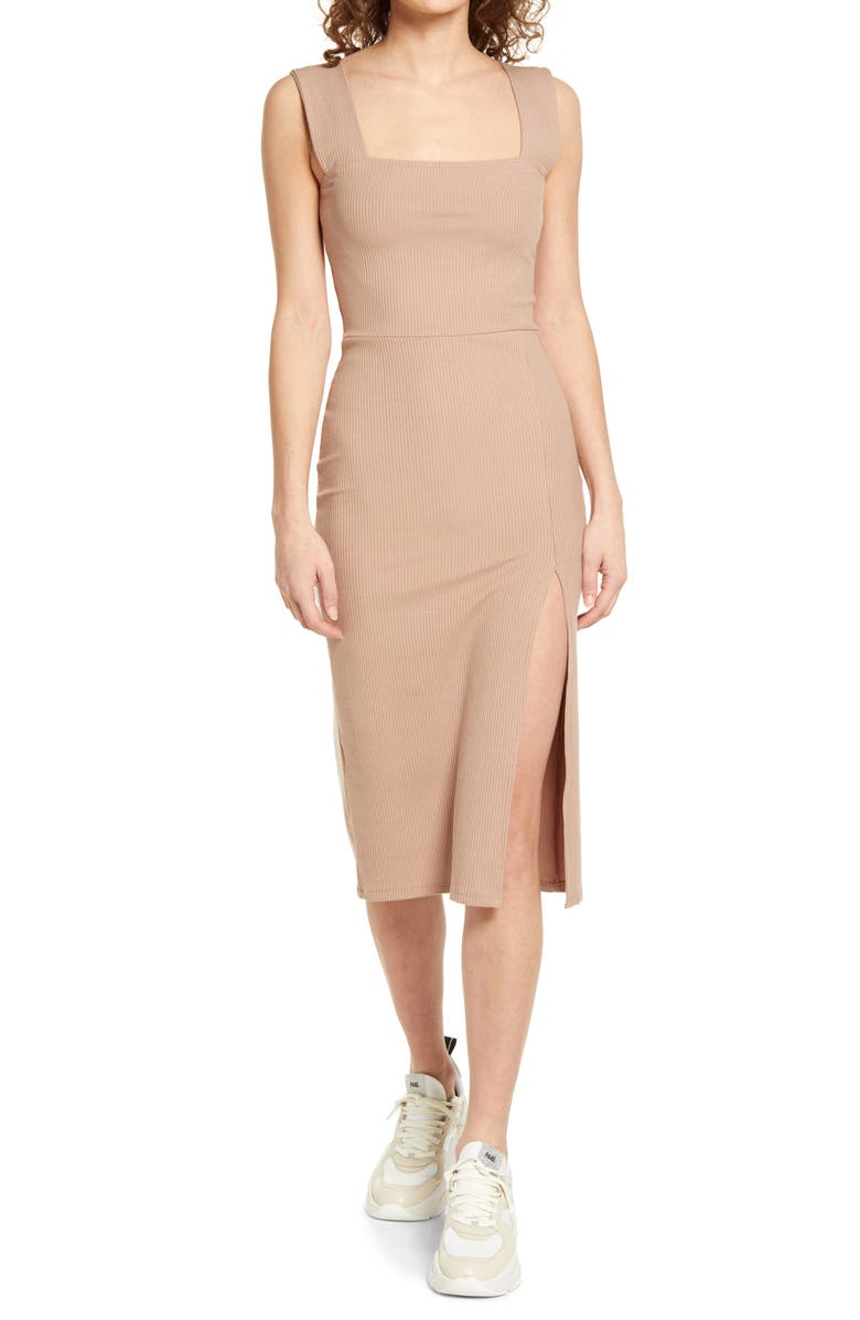REFORMATION Cassi Sheath Dress, Main, color, SAND