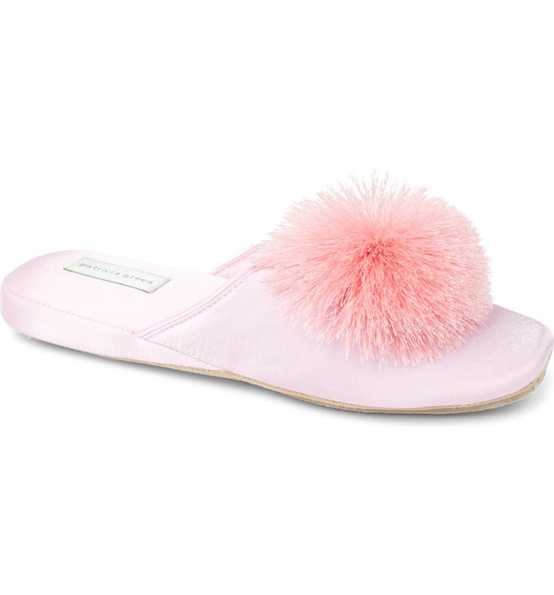 PATRICIA GREEN Cathy Pouf Slipper, Main, color, PINK SATIN