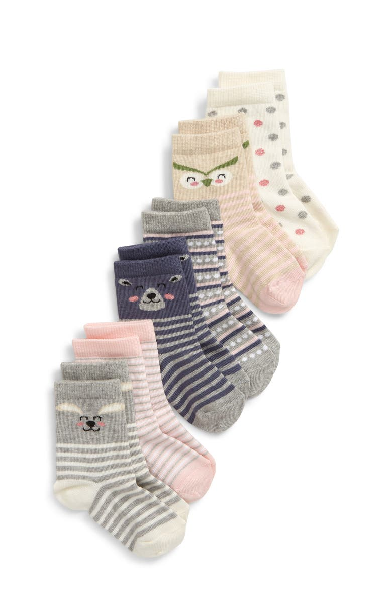 TUCKER + TATE Critters 6-Pack Crew Socks, Main, color, 281