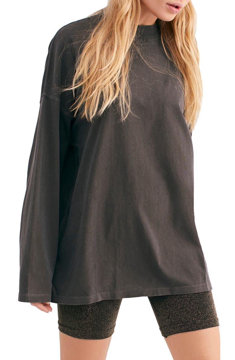 FREE PEOPLE We the Free by Free People Be Free Tunic T-Shirt, Main, color, BLACK