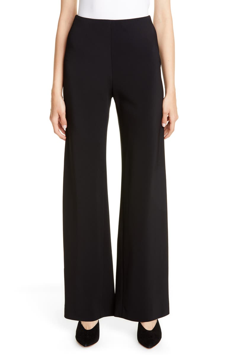 ROSETTA GETTY Stretch Jersey Pants, Main, color, 001