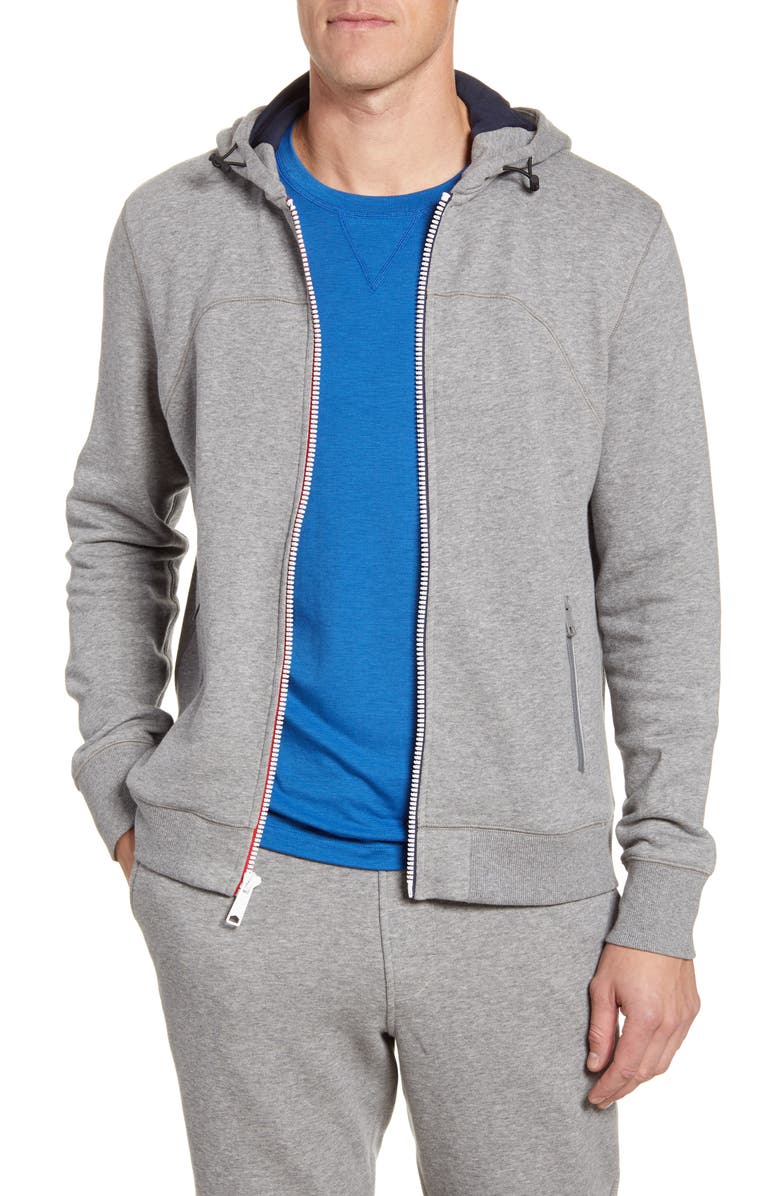 FOURLAPS Rush Hoodie, Main, color, GREY HEATHER