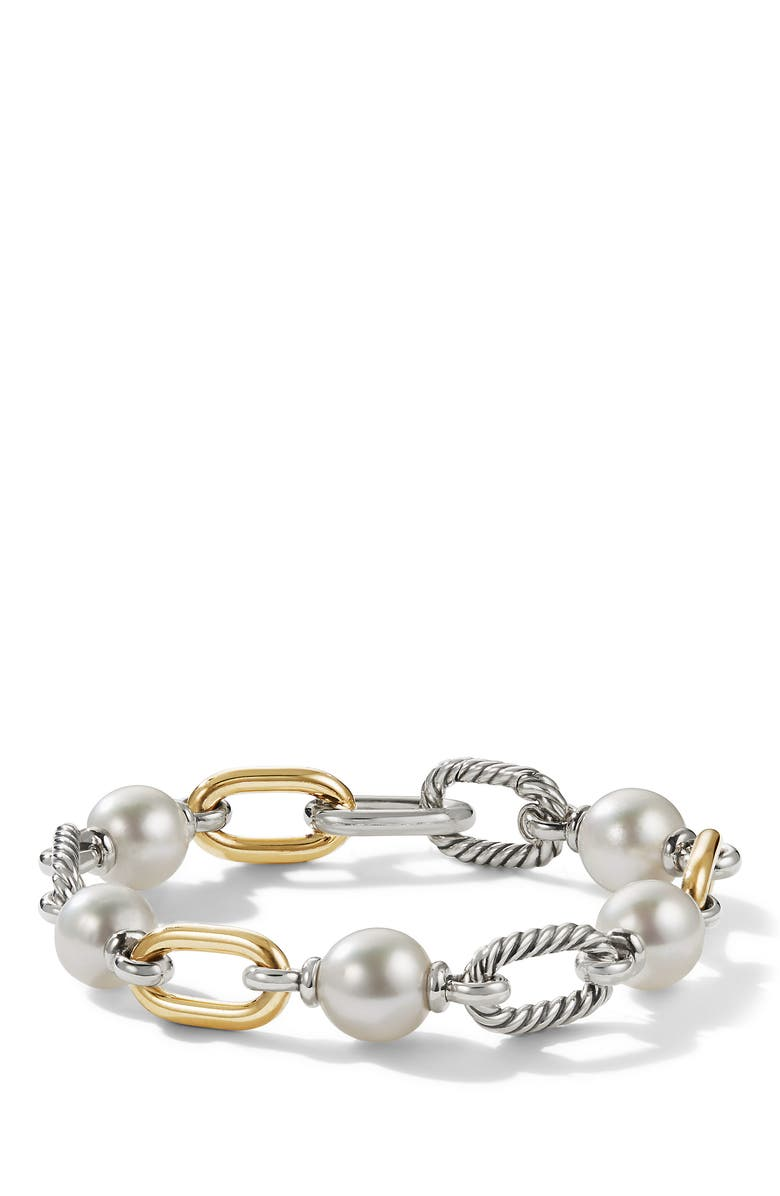 DAVID YURMAN Madison<sup>®</sup> Pearl Chain Bracelet with 18K Yellow Gold, Main, color, YELLOW GOLD/ PEARL