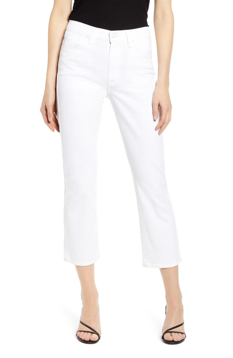 7 FOR ALL MANKIND<SUP>®</SUP> High Waist Crop Slim Jeans, Main, color, 101