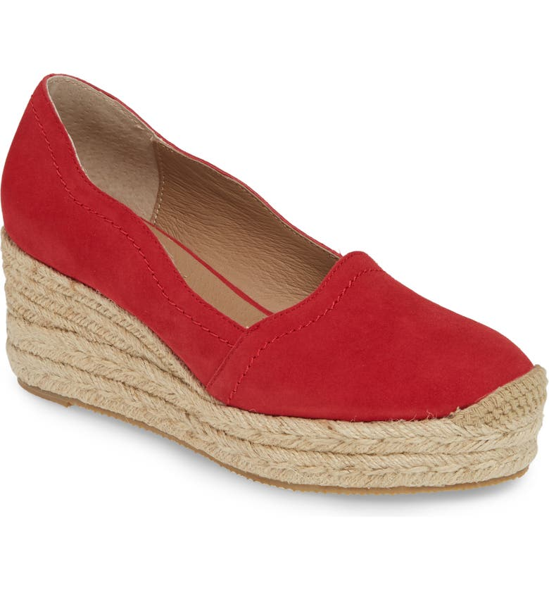 BETTYE MULLER CONCEPTS Reese Wedge Pump, Main, color, RED RIBBON SUEDE