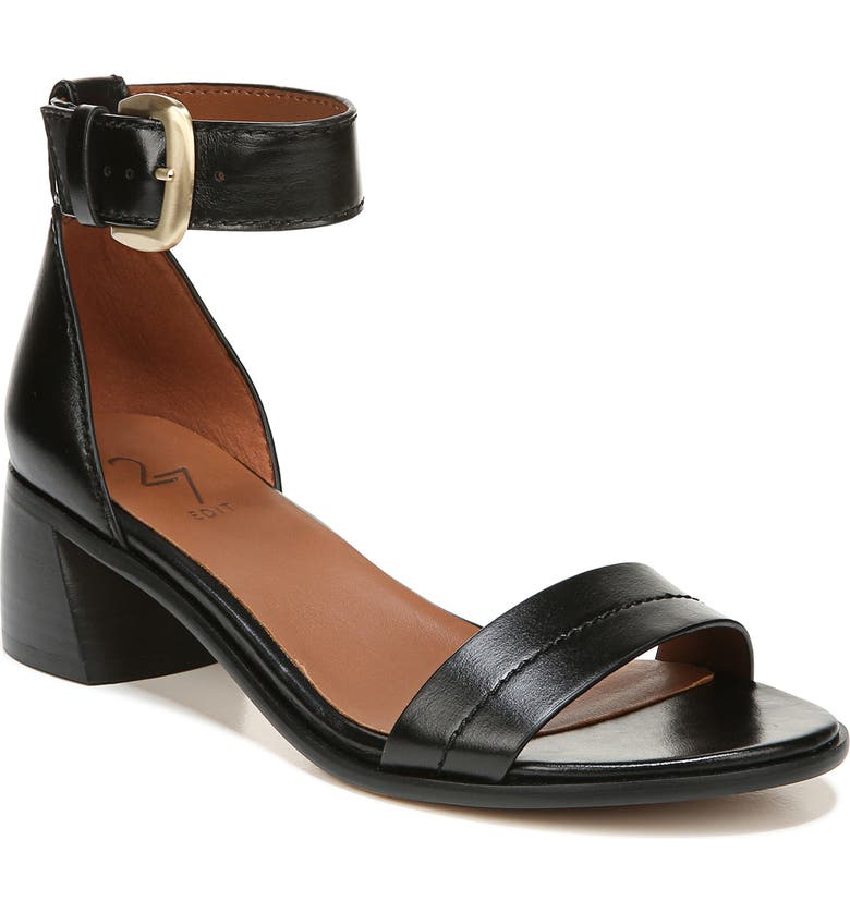 27 EDIT Kandrie Sandal, Main, color, BLACK PATENT LEATHER