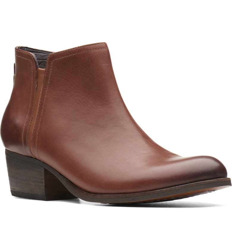 CLARKS<SUP>®</SUP> Maypearl Ramie Bootie, Main, color, 201