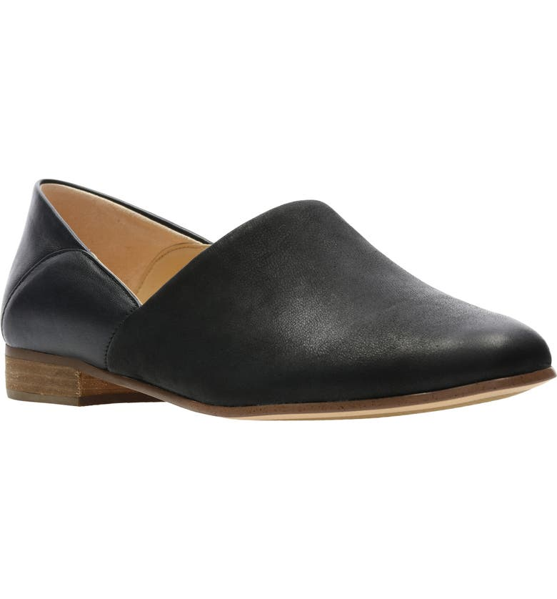 CLARKS<SUP>®</SUP> Pure Viola Flat, Main, color, BLACK COMBI LEATHER