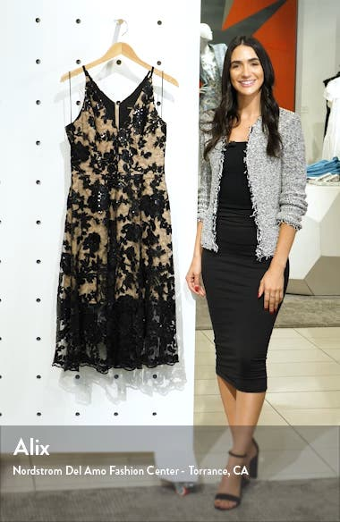 Maria Embellished Fit & Flare Dress, sales video thumbnail