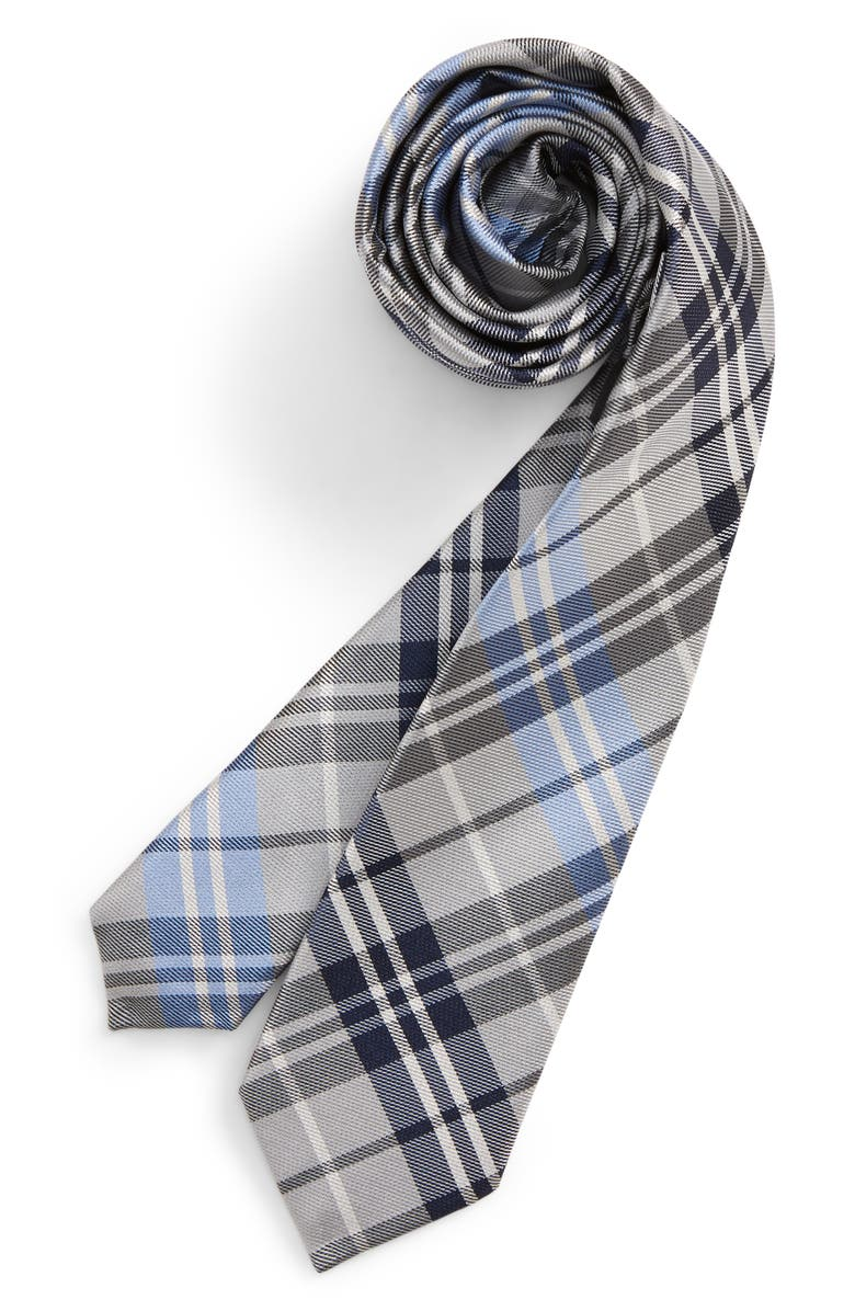 NORDSTROM Milo Plaid Silk Tie, Main, color, 400