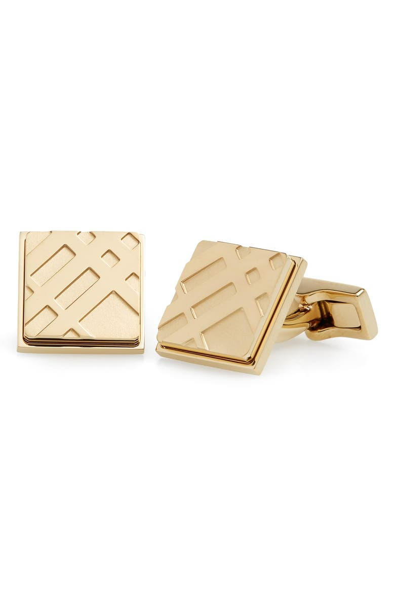 BURBERRY Square Cuff Links, Main, color, 714