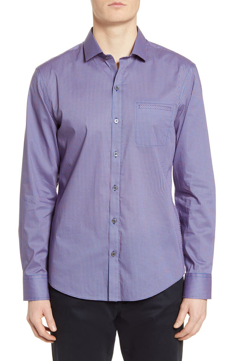 ZACHARY PRELL Grimes Classic Fit Button-Up Shirt, Main, color, 500