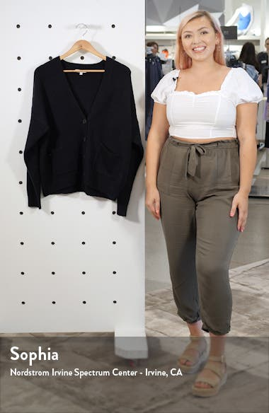 Button Front V-Neck Cardigan, sales video thumbnail