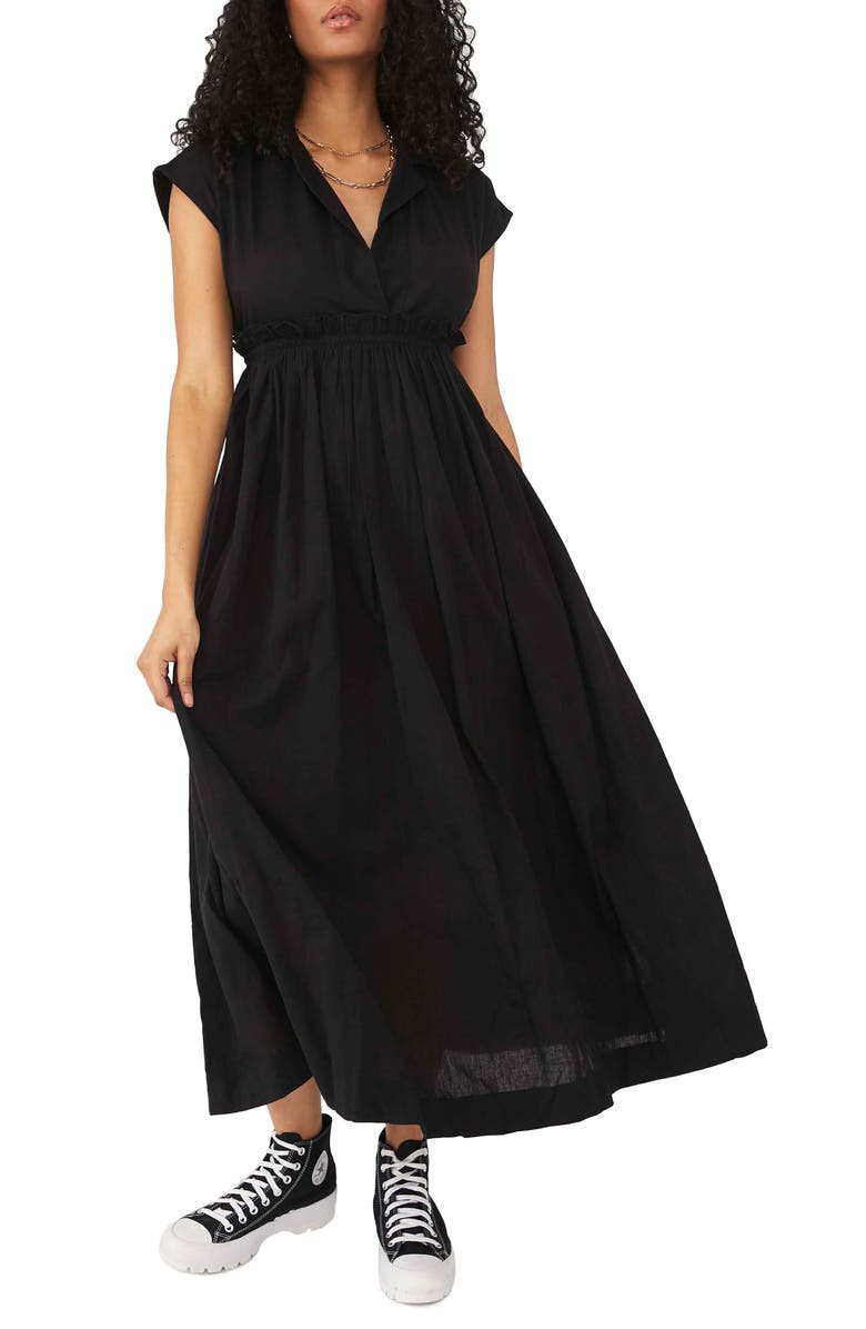 FREE PEOPLE All Occasions Maxi Shirtdress, Main, color, 001
