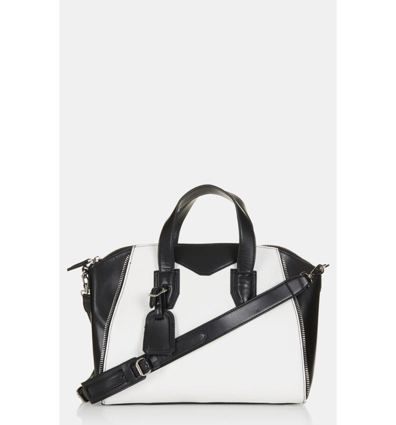 TOPSHOP 'Evian' Satchel, Medium, Main, color, 002