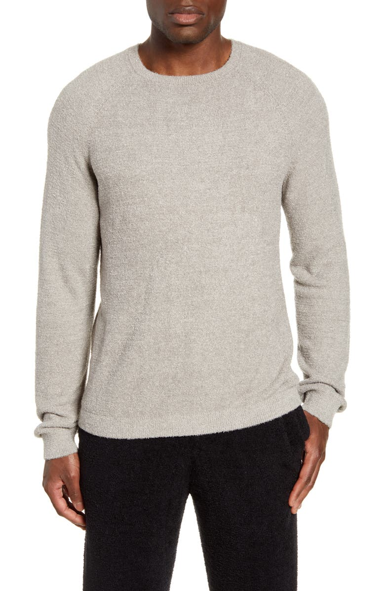 BAREFOOT DREAMS<SUP>®</SUP> CozyChic<sup>™</sup> Lite Raglan Sweater, Main, color, PEWTER/ SILVER